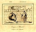 Alexander visits Diogenes living in a barrel at Corinth in an early 19th century engraving.jpg