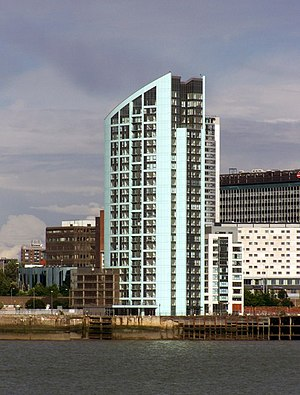 Alexandra Tower, Liverpool - Image: Alexandra Tower, Princess Dock, Liverpool geograph.org.uk 1406982