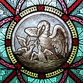 All Saints Catholic Church (St. Peters, Missouri) - stained glass, sacristy, pelicans detail.jpg
