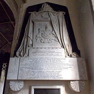 Harry Calvert - Monument to Sir Harry Calvert in All Saints Church, Middle Claydon