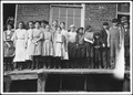 All except smallest boy work in Sweetwater Hosiery Co. He is a dinner carrier, but others like him and smaller work... - NARA - 523367.tif