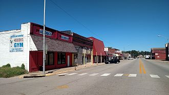 Alma, Arkansas - Streetside along Highway 162 in Alma, AR
