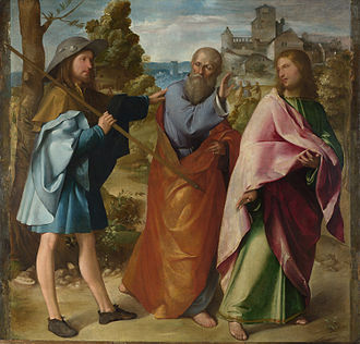 Road to Emmaus appearance - Altobello Melone – The Road to Emmaus, c. 1516-17