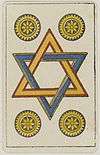 Aluette card deck - Grimaud - 1858-1890 - Four of Coins.jpg