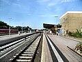 Alzeyer Bahnhof- auf Bahnsteig zu Gleis 1- Richtung Mainz 22.7.2009.jpg