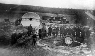Searchlight - American searchlight crew and equipment in France during WWI