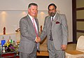 Anand Sharma meeting the EU Trade Commissioner, Mr. Karl De Gucht, on the sidelines of the ASEAN Economic Ministers' Meeting (AEM), at Da Nang city, Vietnam on August 26, 2010.jpg