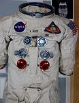 Ander's Apollo 8 A7L Space Suit in the NASM Restoration Labs (27933065221).jpg