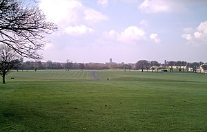 Wavertree Playground - View across Wavertree Playground towards the Anglican Cathedral