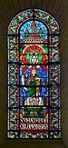 Angoulême 16 Cathédrale Vitrail Vierge 2014.jpg