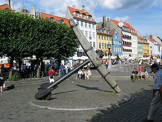 Nyhavn - The Memorial Anchor at the end of Nyhavn