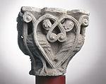 Anonyme toulousain - Chapiteau de colonne simple , Oiseaux dans des lianes - Musée des Augustins - ME 226 (4).jpg
