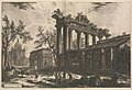 Another view of the remains of the Pronaos of the Temple of Concord -The Temple of Saturn with Arch of Septimius Severus in left background-, from Vedute di Roma (Views of Rome), part I MET DP276955.jpg