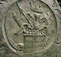 Anstey churchyard symbols, Leicestershire.JPG