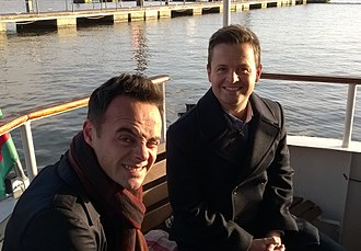 "Ant & Dec - Anthony ""Ant"" McPartlin (left) and Declan ""Dec"" Donnelly (right) in 2014"