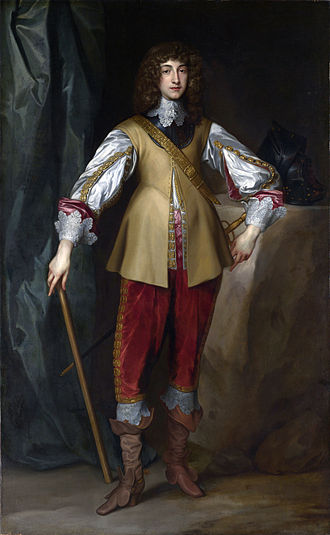 Prince Rupert of the Rhine - Rupert as a young man visiting the court of his uncle, King Charles I of England, by Anthony van Dyck