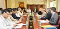 Anthony Foxx along with a delegation meeting the Union Minister for Urban Development, Housing and Urban Poverty Alleviation and Parliamentary Affairs, Shri M. Venkaiah Naidu, in New Delhi on April 09, 2015.jpg