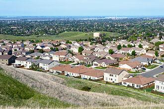 Antioch, California - View of Antioch from Black Diamond Mines Regional Preserve