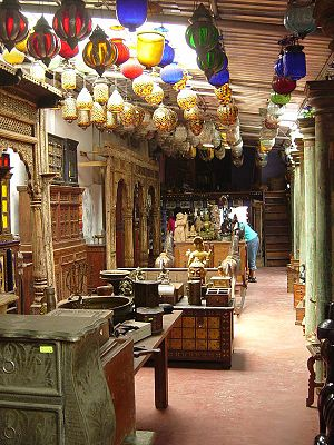 Antique shop - Interior of an antique shop in Kochi, India.