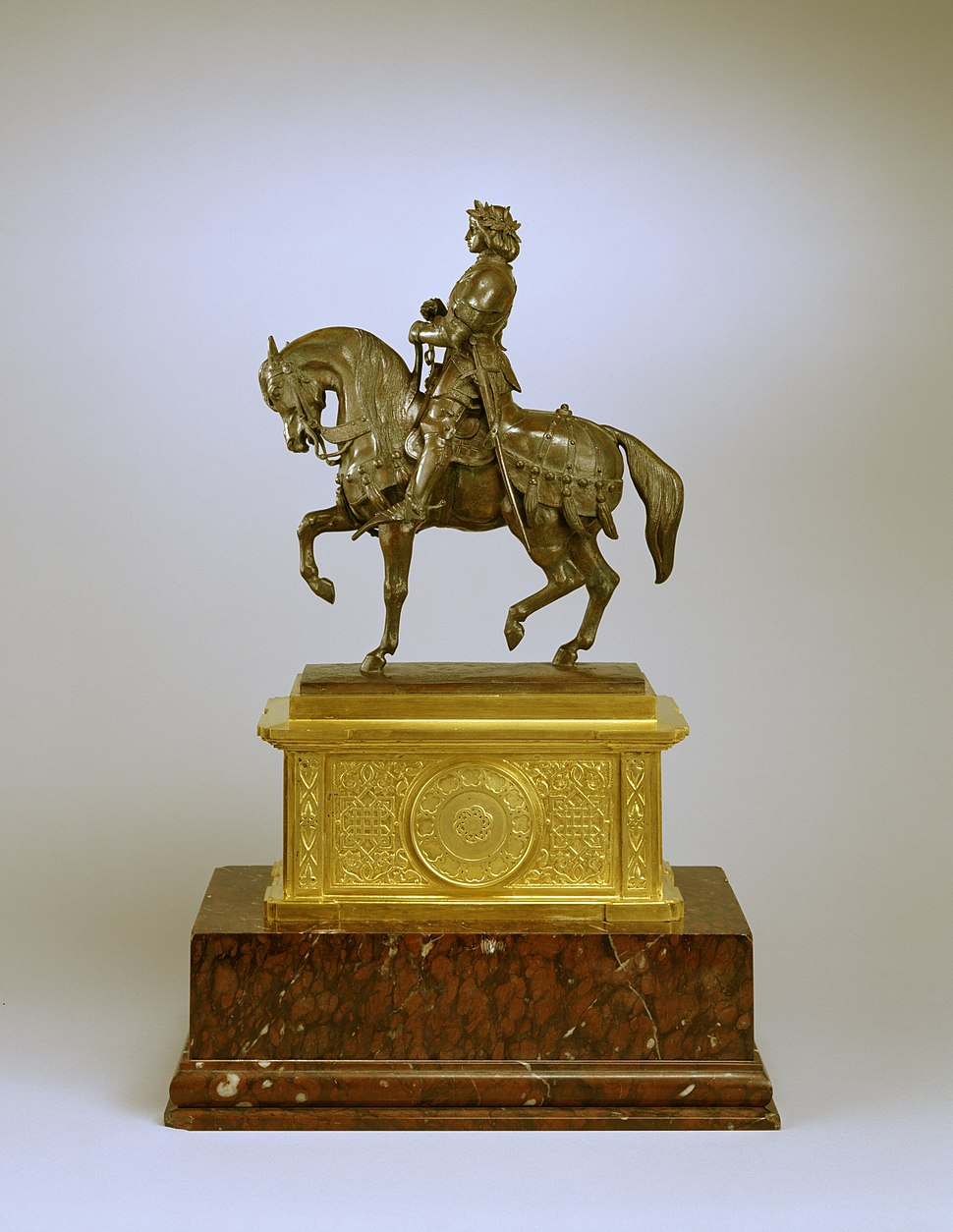 Antoine-Louis Barye - Charles VII, the Victorious - Walters 27164 - Profile