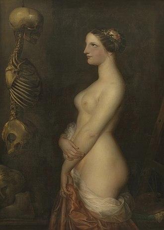 1847 in art - Antoine Wiertz – Deux jeunes filles (La Belle Rosine)