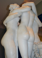 Antonio Canova (1757-1822) - The Three Graces, Woburn Abbey version (1814-1817) back half-right thighs upward, Victoria and Albert Museum, August 2013 (11059836873).png
