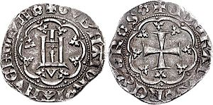 Antoniotto Adorno - ''Grosso'' minted in 1396 while Antoniotto Adorno, was governor of Genoa for the sake of the king of France, Charles VI.