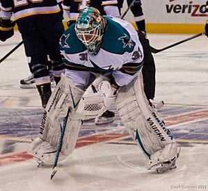 Antti Niemi (ice hockey) - Niemi in 2011 during his tenure with San Jose