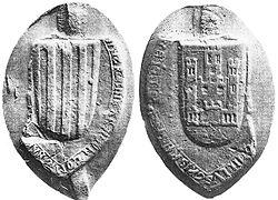 Anverso y reverso del sello de la reina de Aragón Leonor de Castilla y Plantagenet.jpg