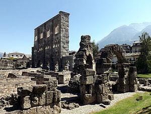 Roman Theatre, Aosta - Remains of the theatre.