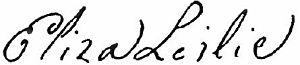 Eliza Leslie - Image: Appletons' Leslie Eliza signature