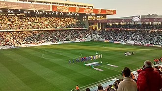 Córdoba CF - Match of Segunda División between Córdoba C.F. and C.D. Leganés (2:3), January 2016.