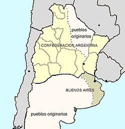 Constitutional Argentine Confederation and independent State of Buenos Aires, 1858.