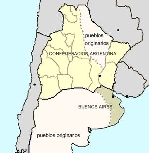 Argentine Confederation - Constitutional Argentine Confederation and independent State of Buenos Aires, 1858.