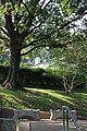 Arlington National Cemetery - looking W up Custis Walk at Arlington House and potting shed - 2011.jpg