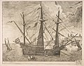 Armed Three-Master Anchored Near a City from The Sailing Vessels MET DP818245.jpg