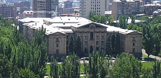1996 Armenian presidential election - The National Assembly building in Yerevan