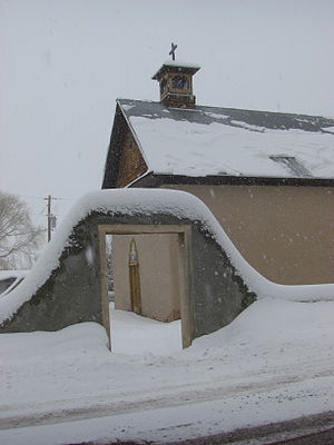 Arroyo Hondo, New Mexico - Church in Arroyo Hondo, winter 2007