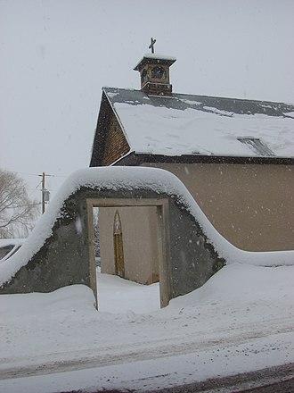 Arroyo Hondo, New Mexico - Church in Arroyo Hondo, winter 2007