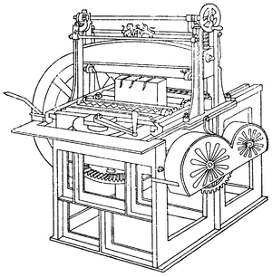 Line drawing of a rounding machine.
