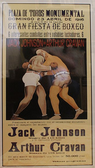 Arthur Cravan - Arthur Cravan and Jack Johnson poster, 1916