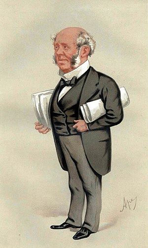 "Arthur Kinnaird, 10th Lord Kinnaird - ""Piety and Banking"". Caricature by Ape published in Vanity Fair in 1876"