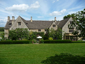 Diana Mitford - Rear view of Asthall Manor