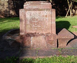 Astley, Worcestershire - Memorial to Stanley Baldwin near his home, Astley Hall