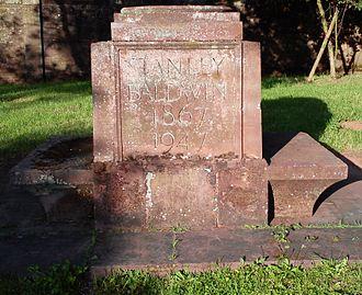 Astley Hall (Stourport-on-Severn) - Memorial to Baldwin near his home, Astley Hall