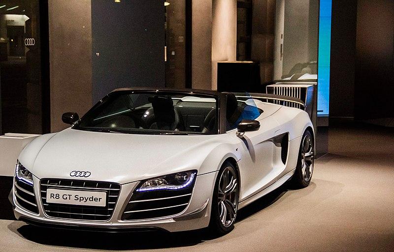 File:Audi R8 GT Spyder white.jpg