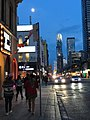 Aug3rd2017-Pre-Eclipse=Moon-North-On-Yonge-Near-Bloor 01.jpg