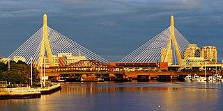 Leonard P. Zakim Bunker Hill Memorial Bridge bridge in Boston