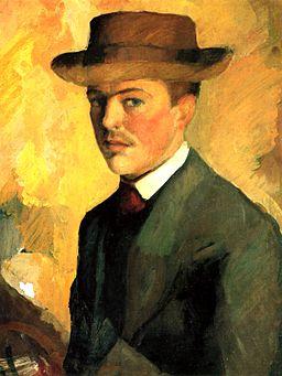 August Macke Autoportret z kapeluszem