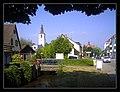 August Thunderstorm Germany, World oldest chair-roof Church Evangelize - Master Habitat Rhine Valley Photography 2013 Hier steht die lutheranische Orthodoxie, Martin Luther (ex 13,21) burn with anger - column of fir - panoramio.jpg